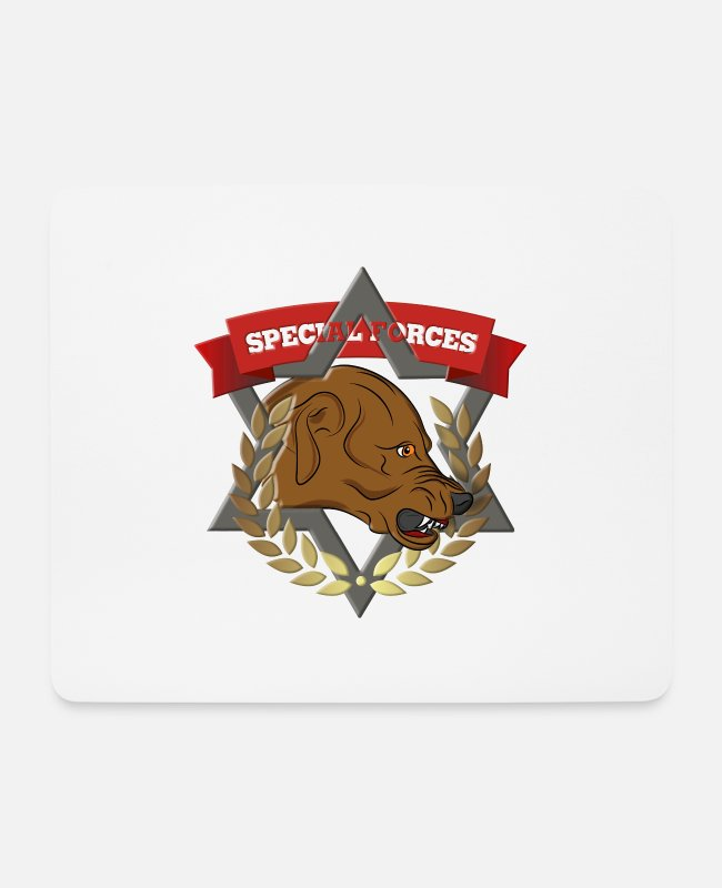 Boss Mouse Pads - SPECIAL FORCES - Mouse Pad white