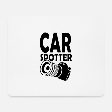 Sportscar Car spotter with reflex camera - Mouse Pad