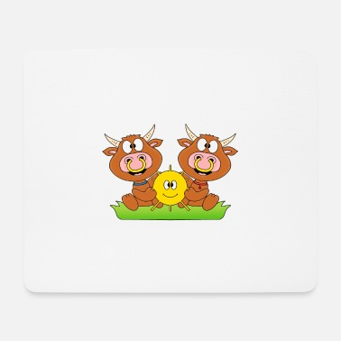 Styling Cows - cattle - let the sun into your heart - Mouse Pad