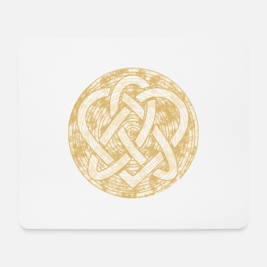 Infinite Spiral circle sign logo 4a gold - Mouse Pad