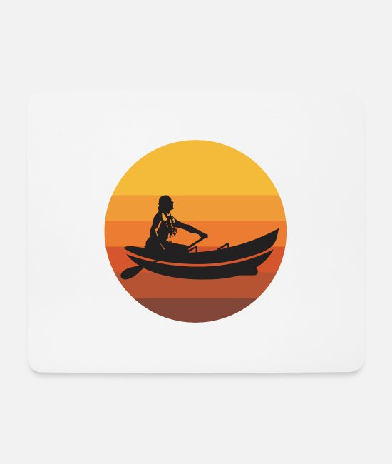 Canoe Mouse Pads - Hawaiian canoeing canoe lovers gift idea - Mouse Pad white