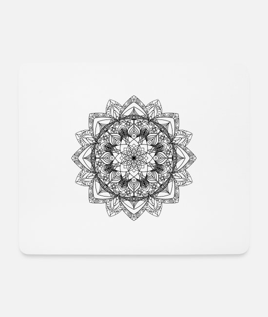 Zen Mouse Pads - New age mandala - Mouse Pad white
