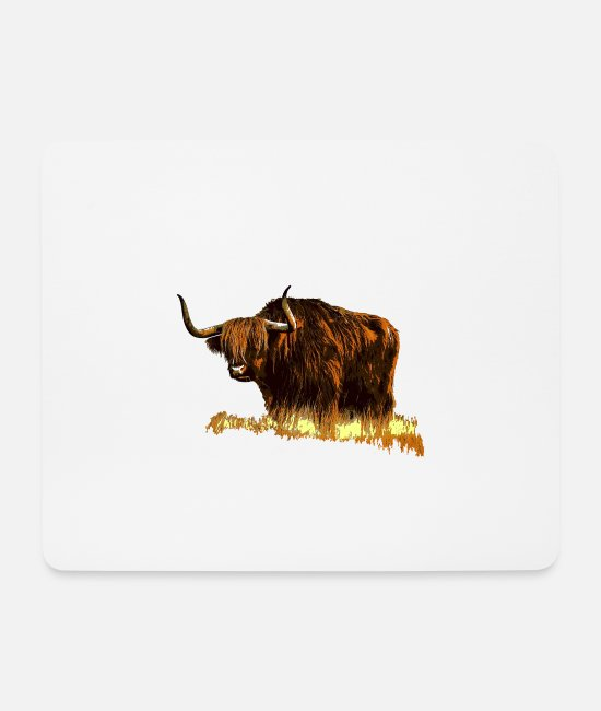 Mammal Mouse Pads - Highland cattle - Mouse Pad white