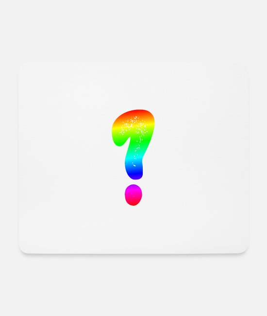 Design Mouse Pads - Question mark ? Colorful - Mouse Pad white