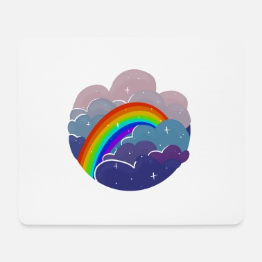 Light Rainbow in the Clouds - Mouse Pad