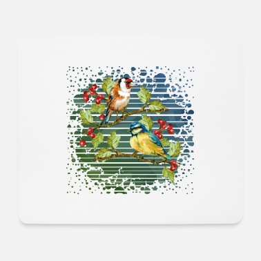 Wing Colorful birds - Mouse Pad