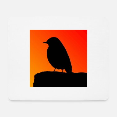 Nature Conservation Redstart silhouette - Mouse Pad
