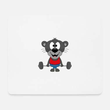 Modus Lustiger Panther - Fitness - Sport - Tier - Fun - Mousepad