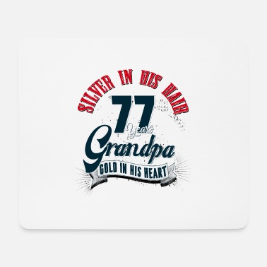 Silver Grandpa, 77th birthday, 77 years, present - Mouse Pad