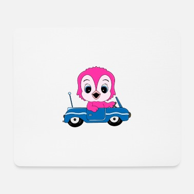 Car Owl - Owl - Car - Driving License - Driving School - Mouse Pad