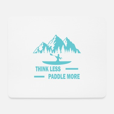 Surfing Think less paddle more surf windsurfing gift - Mouse Pad