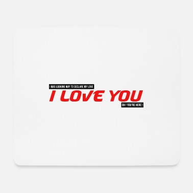 Cupid I was looking for how to tell you I love you couple - Mouse Pad