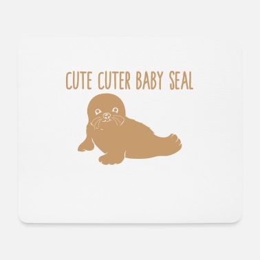 Cute Cuter Baby Seal - Mouse Pad