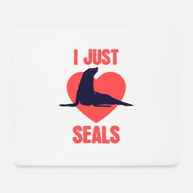 I just love seals - Mouse Pad