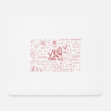 Mathematician Age of majority birthday 18 years gift - Mouse Pad