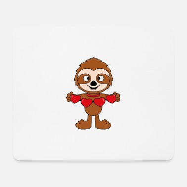 Love With Heart Sloth - Hearts - Love - Baby - Gifts - Mouse Pad