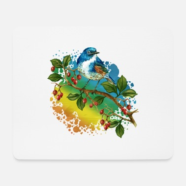 Feather Colorful bird - Mouse Pad