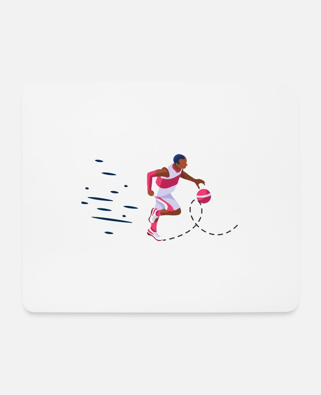 Middle School Mouse Pads - offense against man to man defense - Mouse Pad white