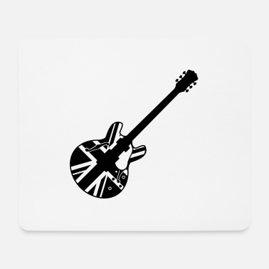 Union Jack union jack guitar - Mousepad