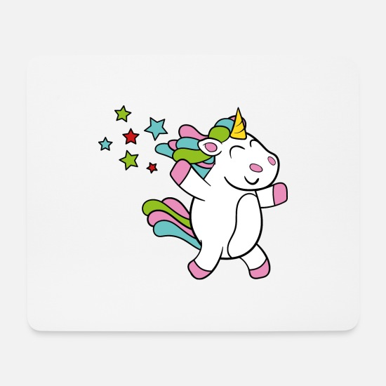 Fantasy Mouse Pads - Funny unicorn unicorn fairy tale mythical creature - Mouse Pad white