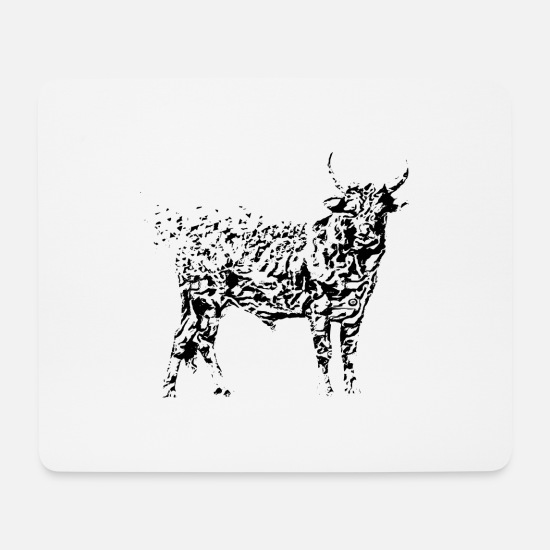 Bull Mouse Pads - bull - Mouse Pad white
