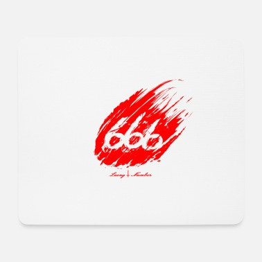Lucky Number 666 Lucky Number Bloody - Mouse Pad