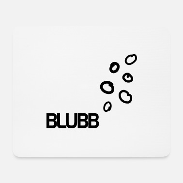 Under Water BLUBB bubbles under water - Mouse Pad
