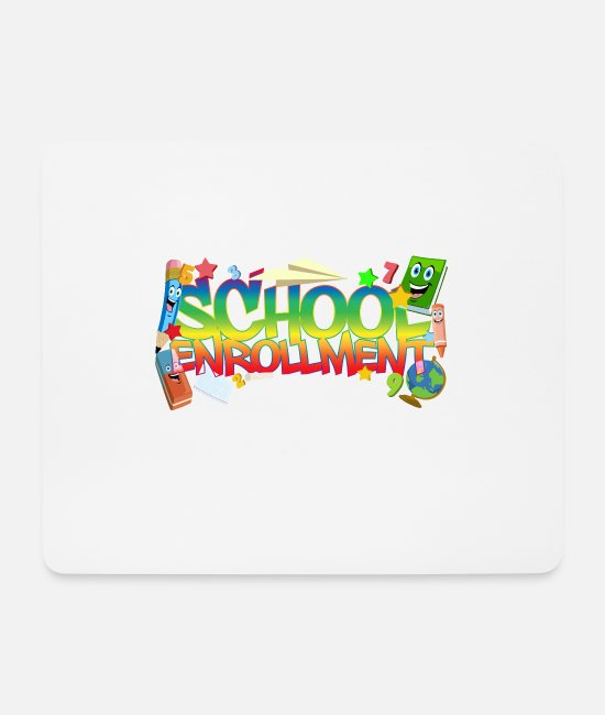 Kindergarten Mouse Pads - School enrollment - school enrollment - Mouse Pad white