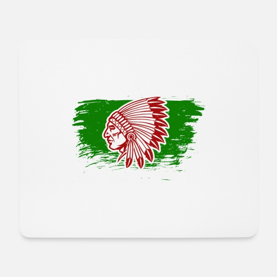 American Indian Mouse Pads - Native American Indians - Mouse Pad white
