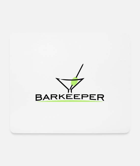 Olive Mouse Pads - Bartender Coctail Glass (2c) - Mouse Pad white