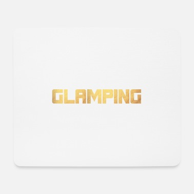 Luxury Glamping Luxury Camping Gold Quote - Mouse Pad