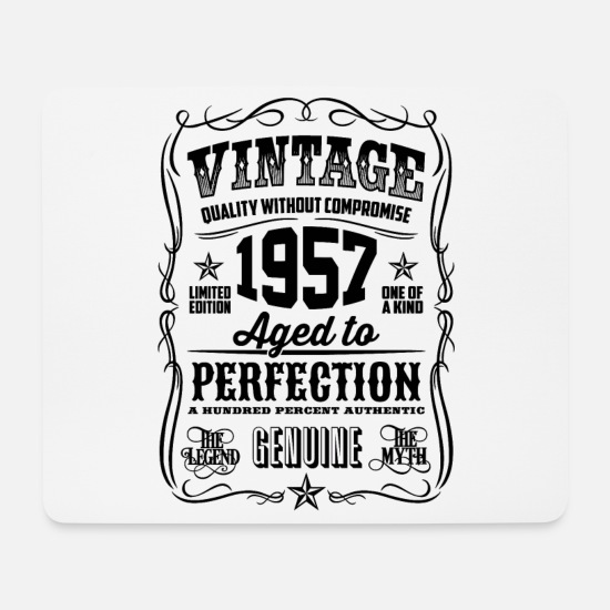 Love Mouse Pads - 1957 Vintage 61th Birthday gift 61 years old - Mouse Pad white