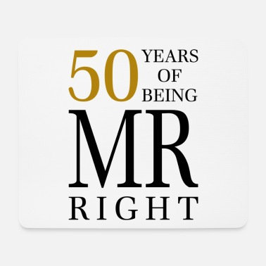 50 Years Old Birthday 50 years old birthday man gift idea - Mouse Pad