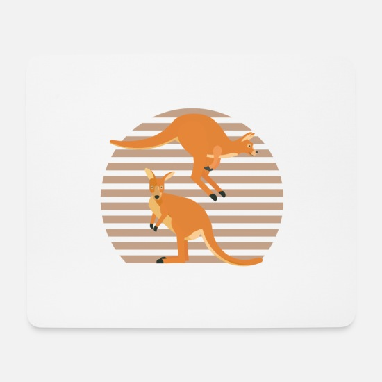 Strong Mouse Pads - Two cute kangaroos - Mouse Pad white