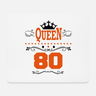 Year Of Birth Birthday Queen 80 - Mouse Pad