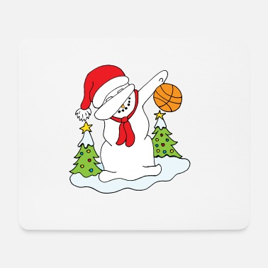 Dabbing Snowman with Christmas Christmas di pallacanestro - Tappetino mouse