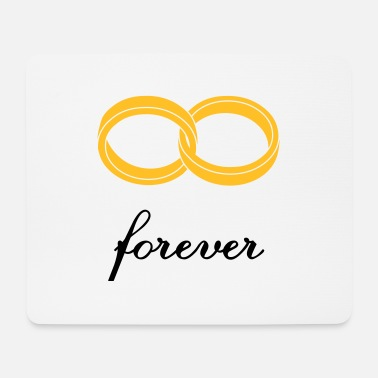 Marriage Infinity Shape wedding rings forever - Mouse Pad