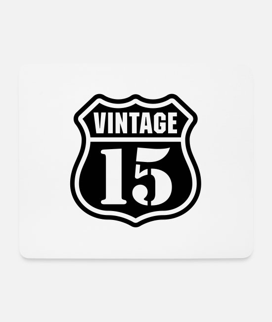 Birthday Boy Mouse Pads - Vintage 15 - Mouse Pad white