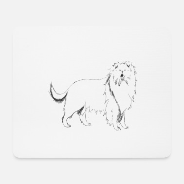 Long-haired Long-haired Herd Dog Long haired collie dog - Mouse Pad