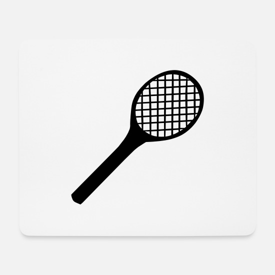 Tennis Mouse Pads - Tennis Racket - Mouse Pad white
