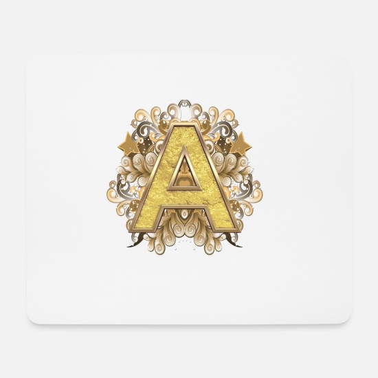 Lettering Mouse Pads - Capital A - Mouse Pad white