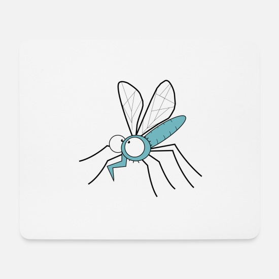 Insect Mouse Pads - insect mosquito - Mouse Pad white