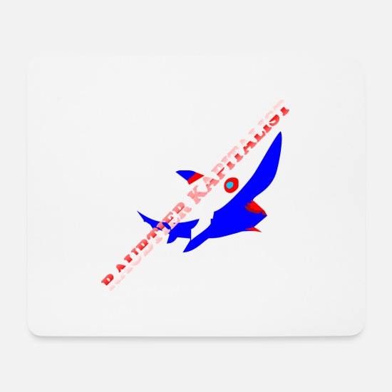 Capitalist Mouse Pads - Capitalism is the solution, not the problem! - Mouse Pad white