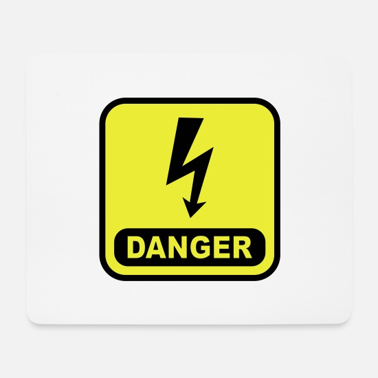 Lightning Mouse Pads - Danger Lightning - Mouse Pad white
