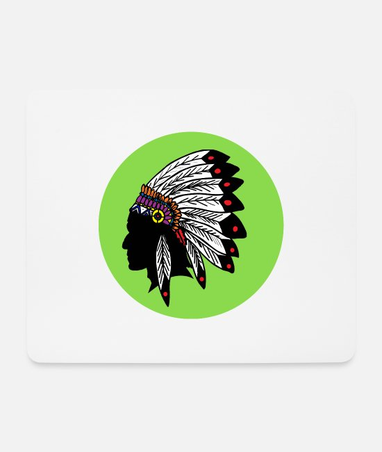 American Indian Mouse Pads - Indian chief Indian Sioux Apache - Mouse Pad white