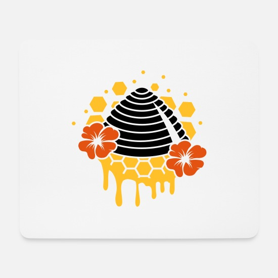 Bee Mouse Pads - A beehive honeycomb - Mouse Pad white
