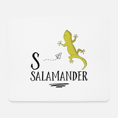Funny t-shirt with a salamander - Mouse Pad