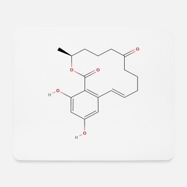 Structure Zearalenone Molecule - Colored Structural Formula - Mouse Pad