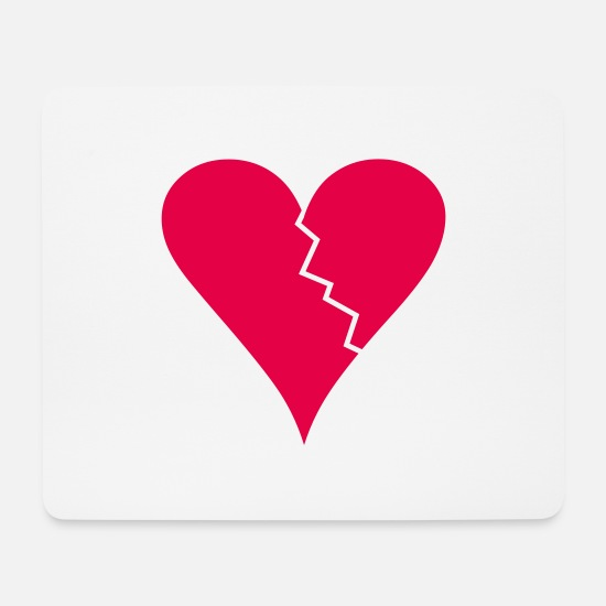 Heart Mouse Pads - Broken Heart - Mouse Pad white