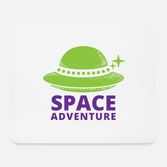 Space Mousepads  - space adventure - Mousepad Weiß